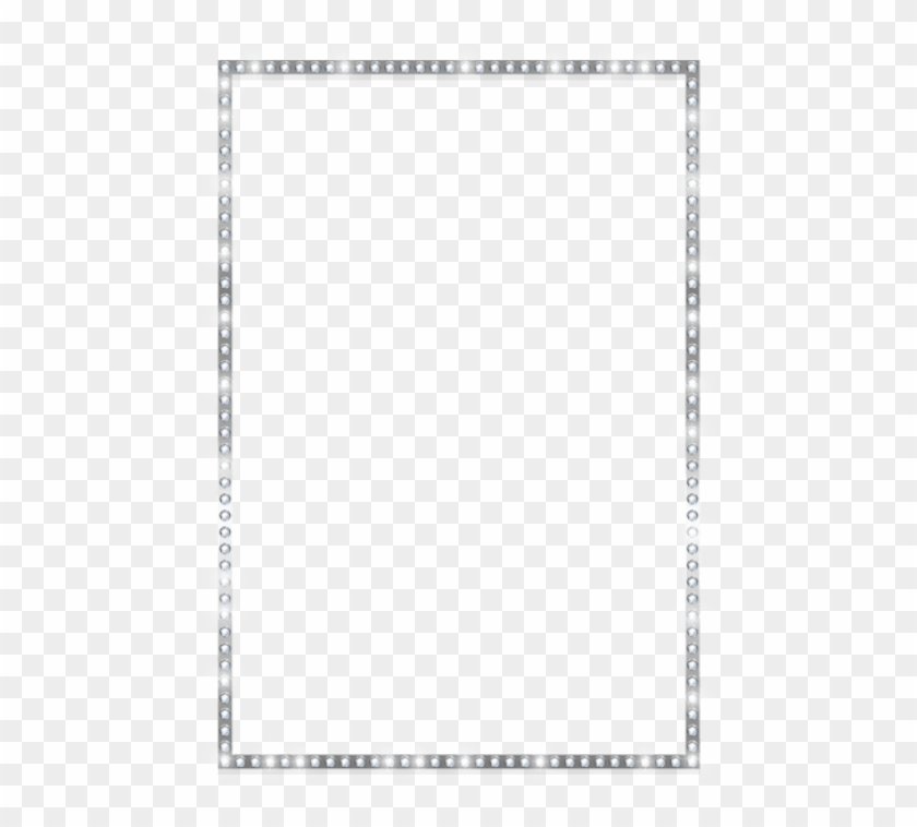 Free Png Download Silver Border Frame With Crystals.
