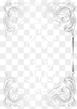Silver Frame PNG Images.