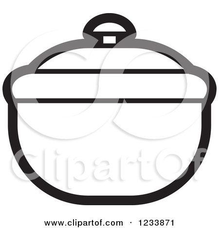 Clipart of a Silver Bowl with a Lid.