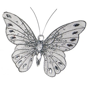 Silver butterfly clipart 2 » Clipart Station.