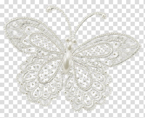 Silver butterfly transparent background PNG clipart.