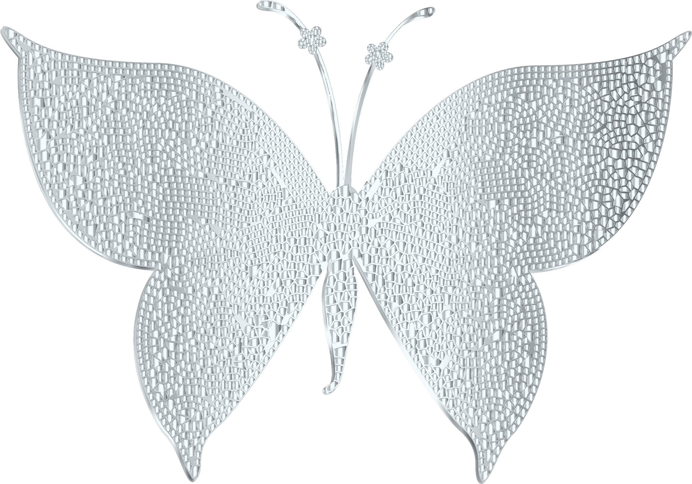 Silver Butterfly Clipart.