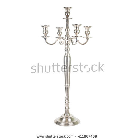 Silver Candlesticks Stock Images, Royalty.