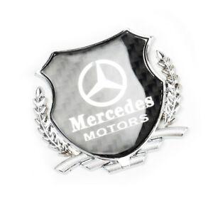 Details about 1x 3D Silver Car Side Metal Badge Emblem Decal Sticker Fit  For Mercedes.
