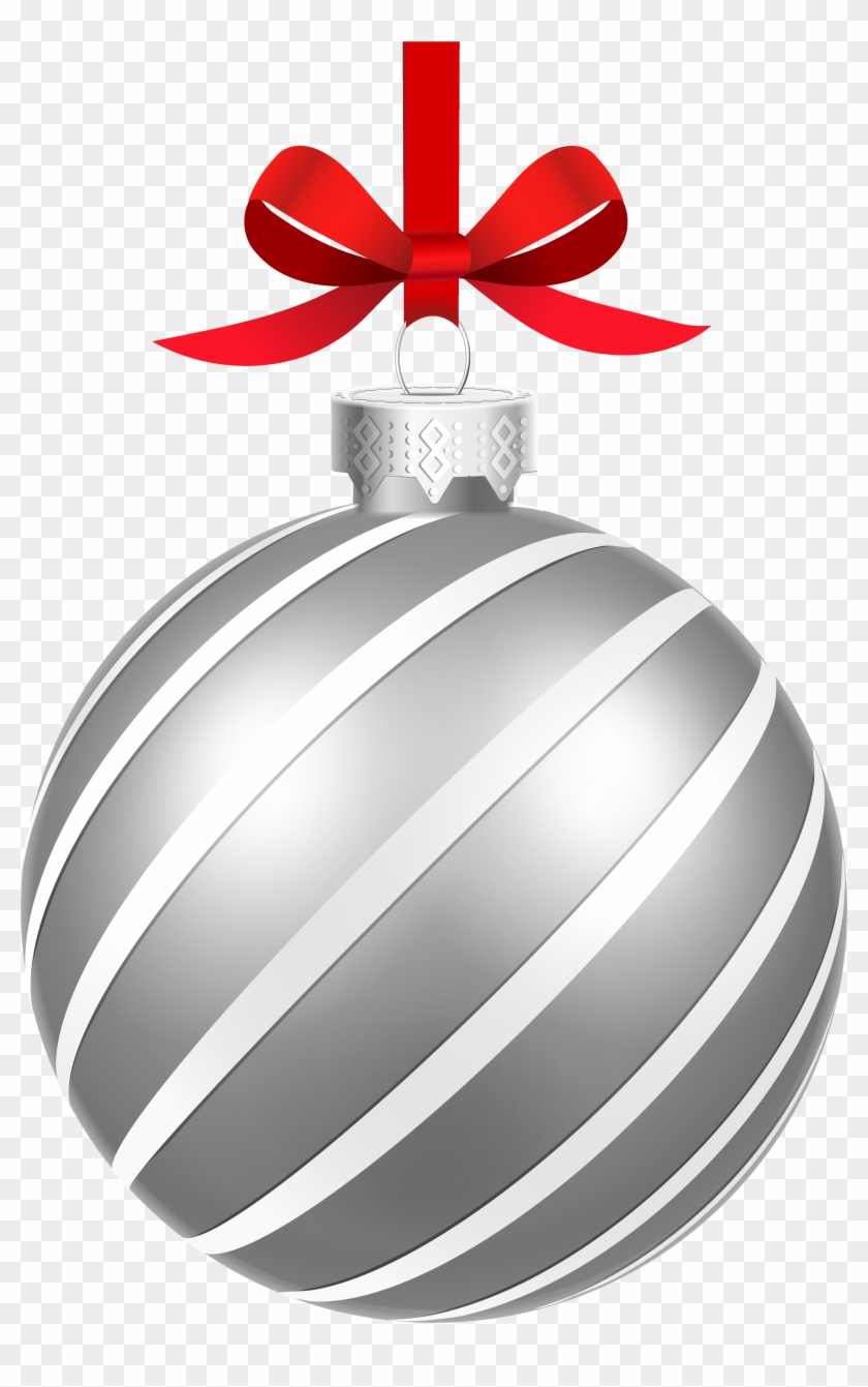 Silver Christmas Ball Png, Transparent Png.