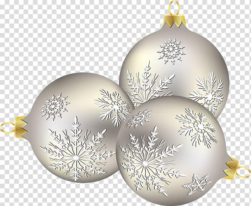 Christmas ornament Christmas decoration Snowflake, Silver.