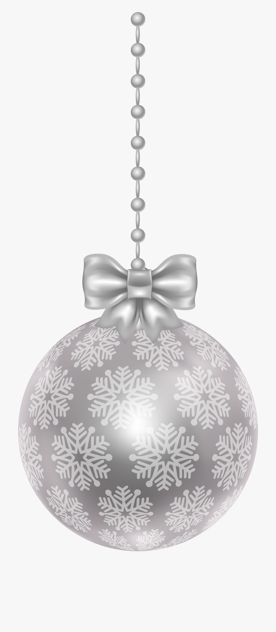 Christmas Ornaments Clipart Silver.