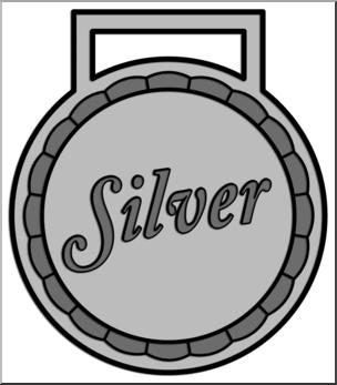 Clip Art: Award Silver Grayscale I abcteach.com.