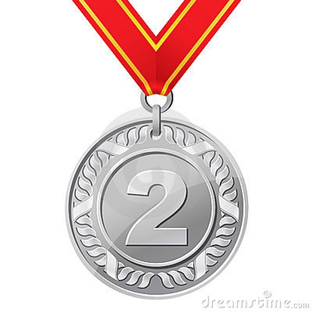 Silver medal clipart.