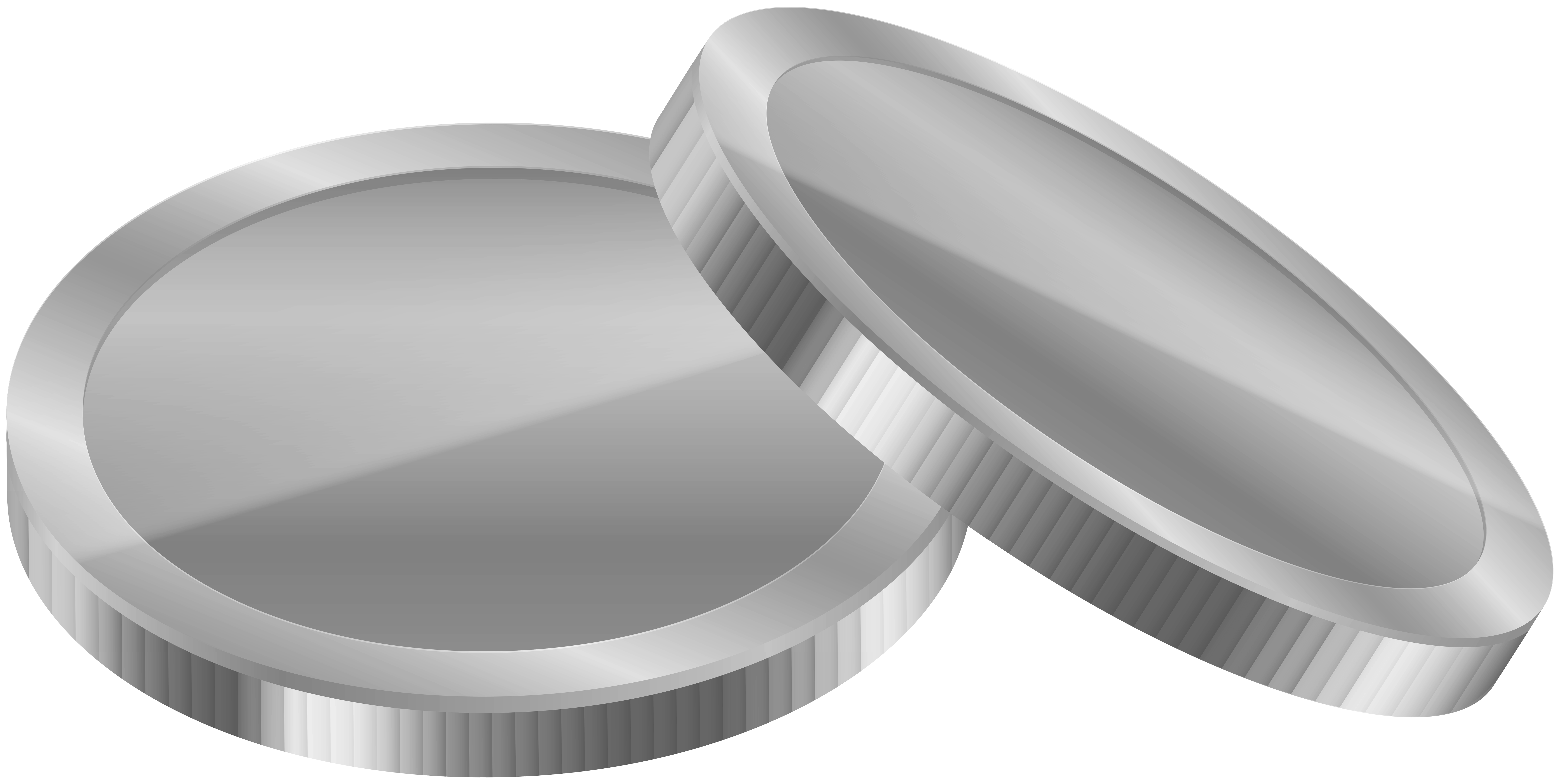 Silver Coins PNG Clipart.