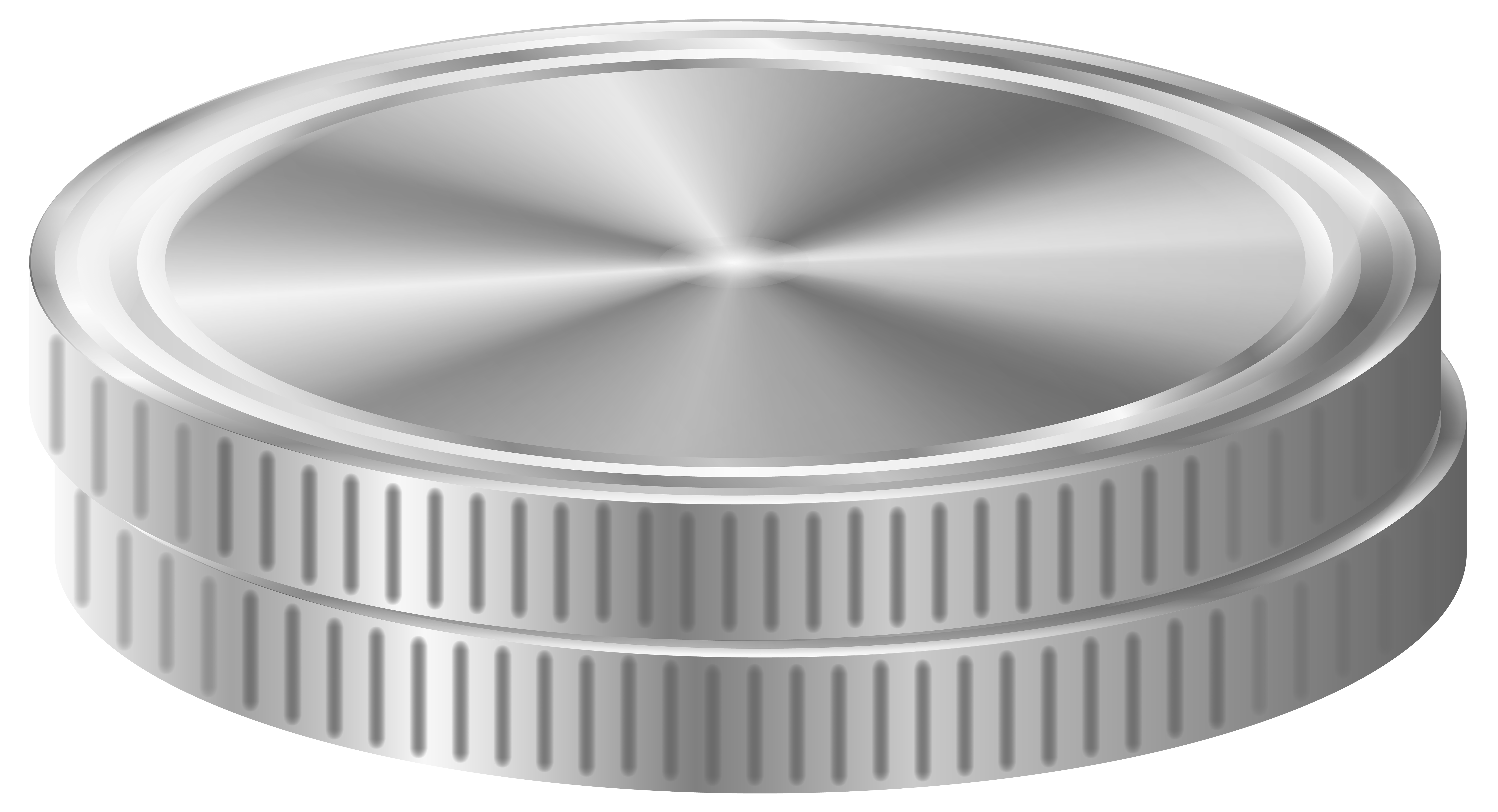 Silver Coins PNG Clip Art Image.