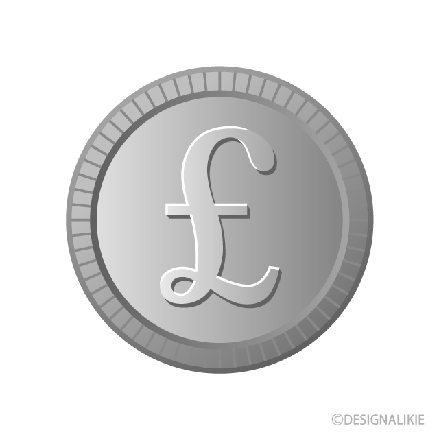 Free Pound Silver Coin Clipart Image Illustoon.