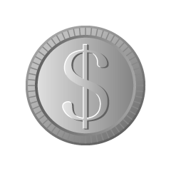 Free Euro Silver Coin Clipart Image Illustoon.