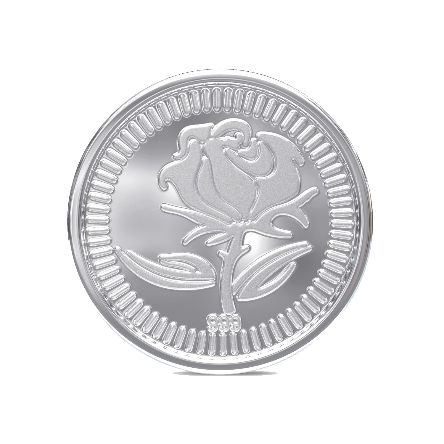 Silver Coin PNG Background.