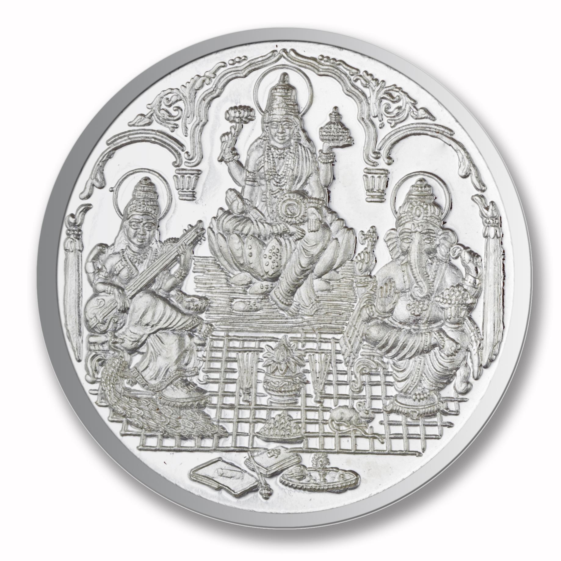 25 gms Trimurti Shree Silver Coin.