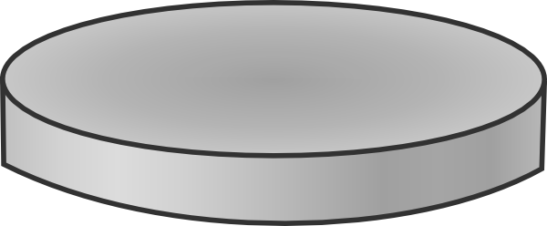 Single Silver Coin Clip Art at Clker.com.