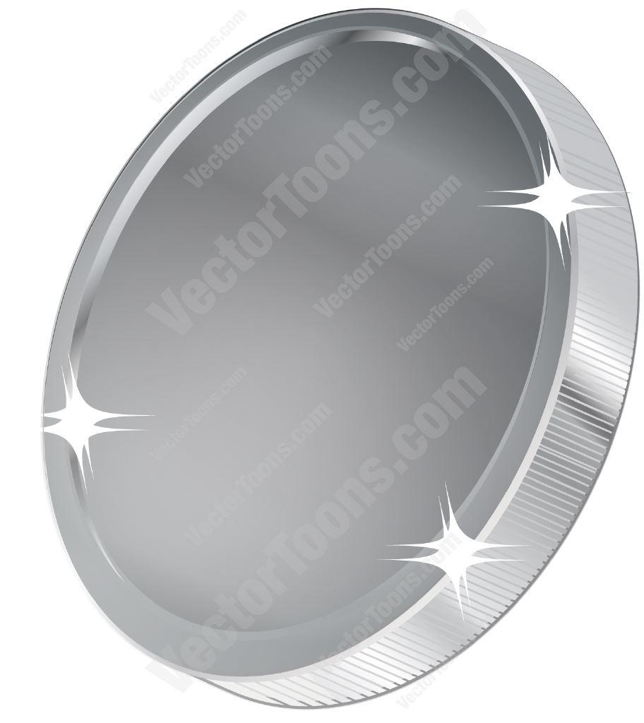 Silver Coin Cartoon Clipart.