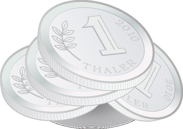 Silver Coin Clipart.