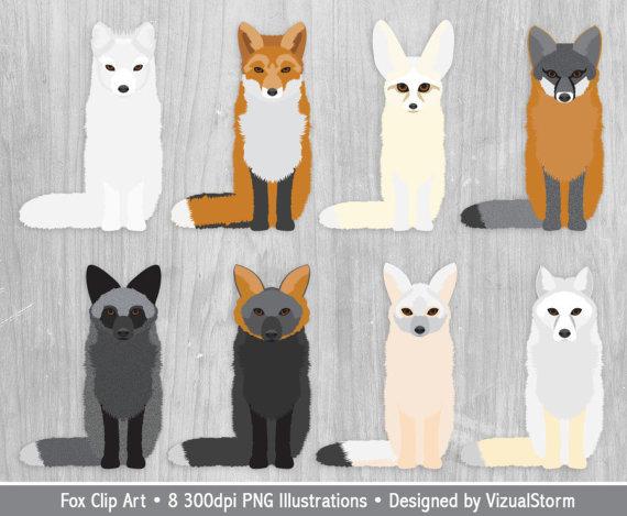 Fox Clipart Wild Animals Fox Birthday Party by VizualStorm on Etsy.