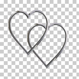 Heart Silver , double twelve posters shading material PNG.