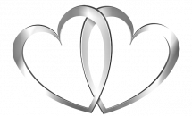 Silver Heart Clipart.
