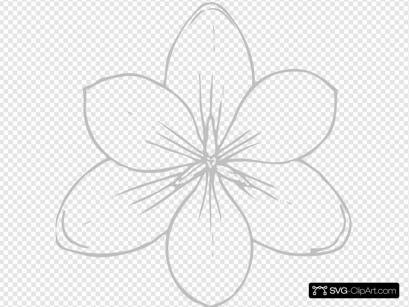 Silver Flower Clip art, Icon and SVG.