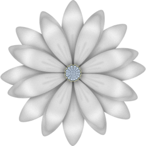 Silver flower png 2 » PNG Image.