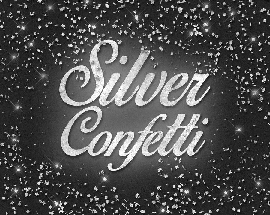 Digital Silver Foil Confetti Clip Art Clipart by.