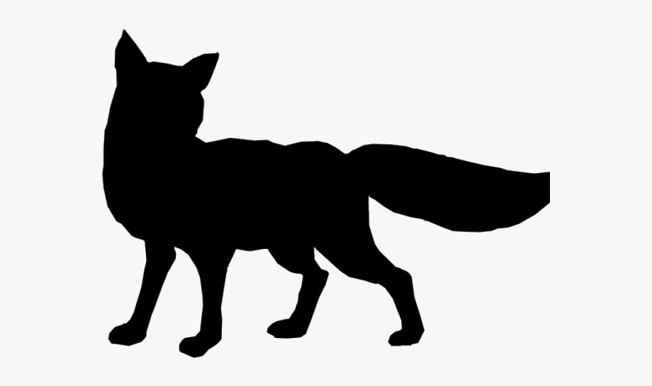 Silver Fox Clipart Silhouette Art.