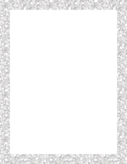 Silver Glitter Border.