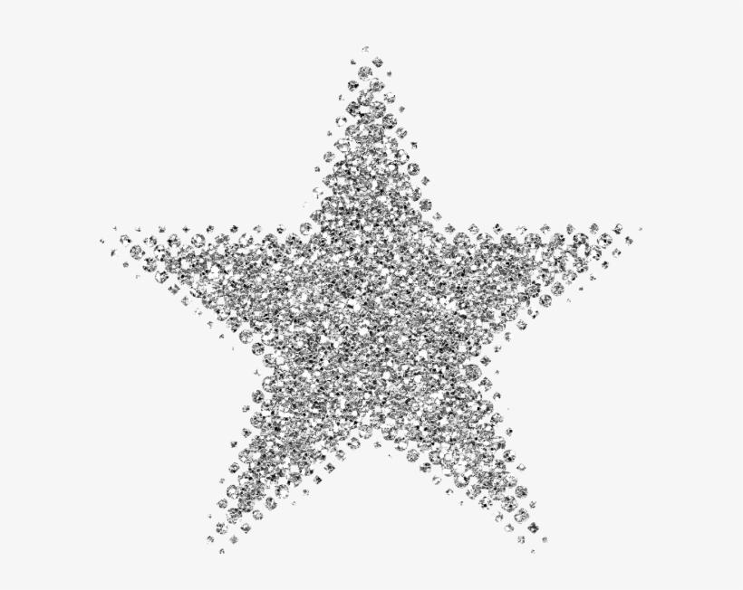 Silver Clipart Silver Glitter Star.