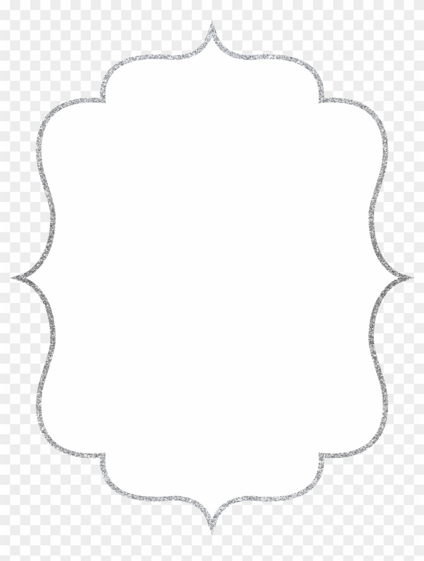 Silver Glittery Frame Png, Transparent Png.