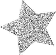 Silver Glitter Star Clipart.