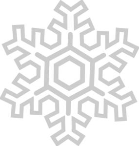 Silver snowflake clipart.