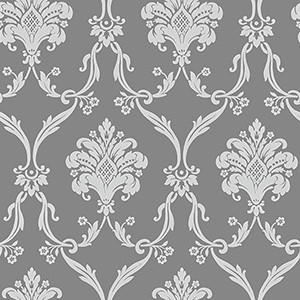Silver Grey Damask Clipart.