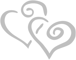 Silver Intertwined Hearts Clip Art at Clker.com.
