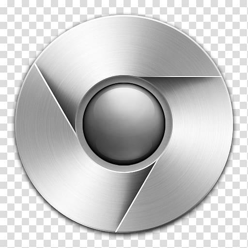 Silver Google Chrome logo, Computer Icons Google Chrome.