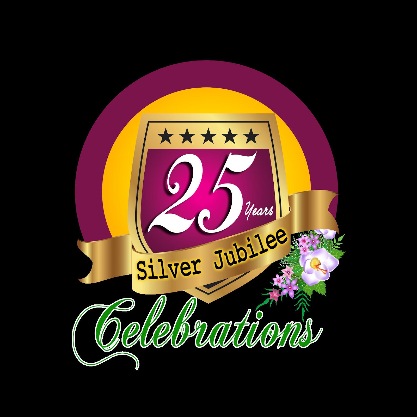 25 years silver jubilee celebrations hd png logo free.