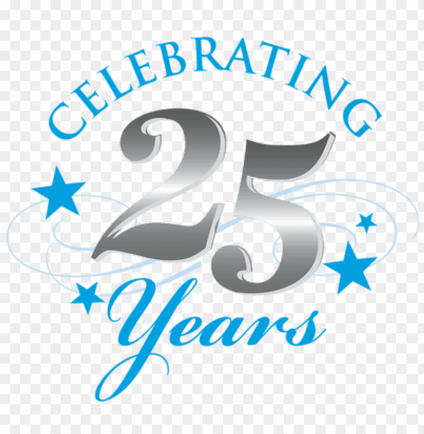 silver jubilee celebrations PNG image with transparent.