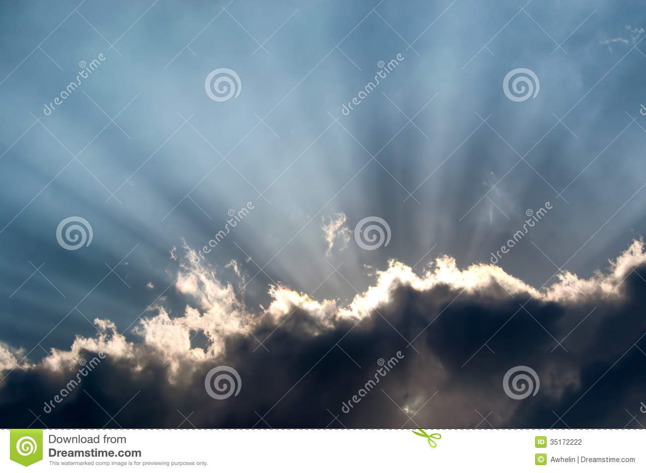 Every Cloud Has A Silver Lining Stock Photo.