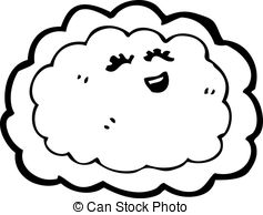 Vector Clipart of cloud with silver lining cartoon csp14855709.