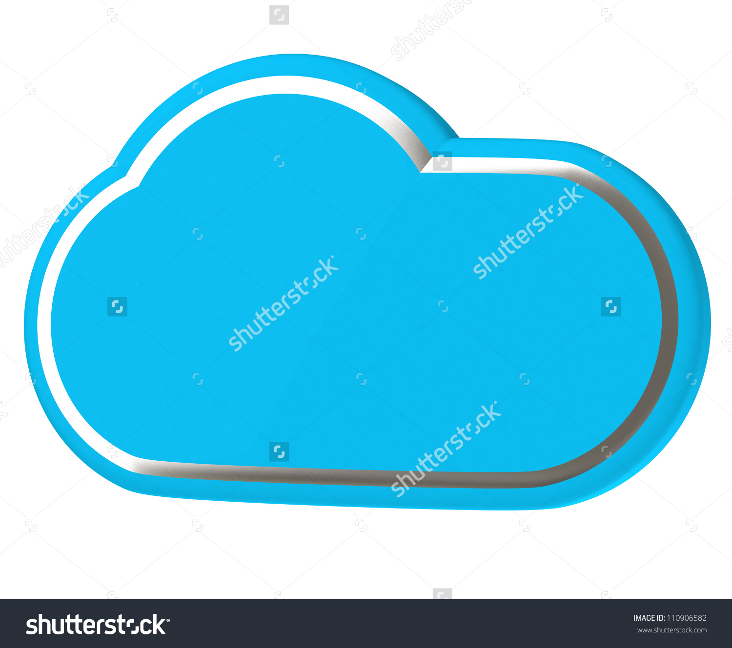 Cloud With Silver Lining 3d Icon Stock Photo 110906582 : Shutterstock.