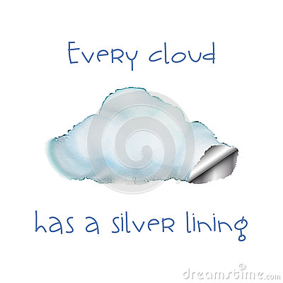 Silver Lining Cloud Stock Illustrations.