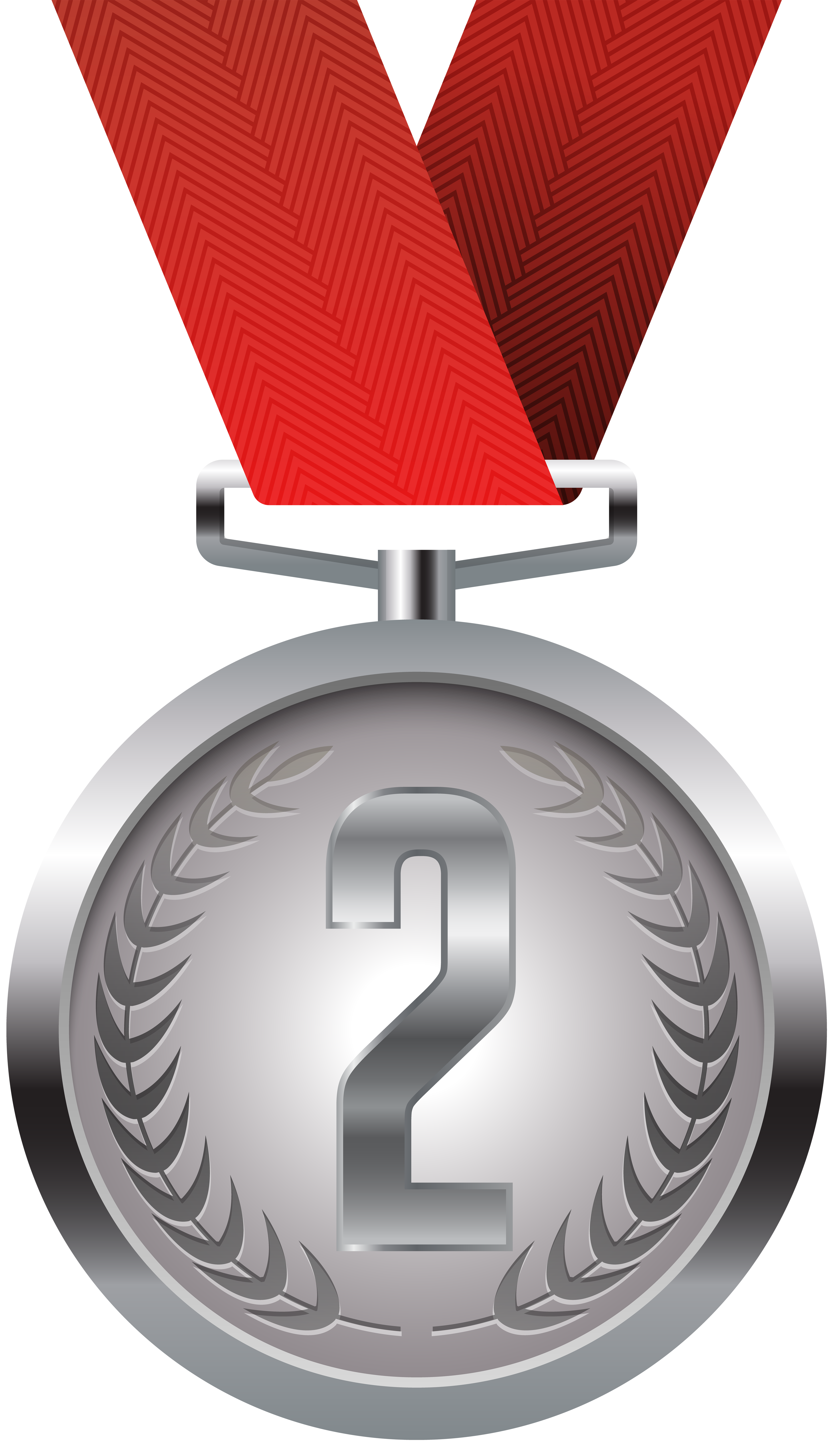 Silver Medal PNG Clip Art.
