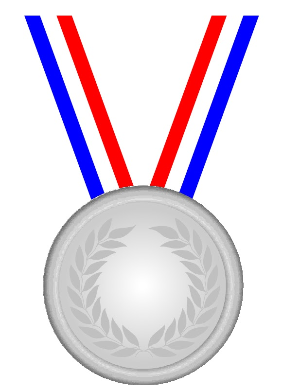 Silver medal clipart - Clipground