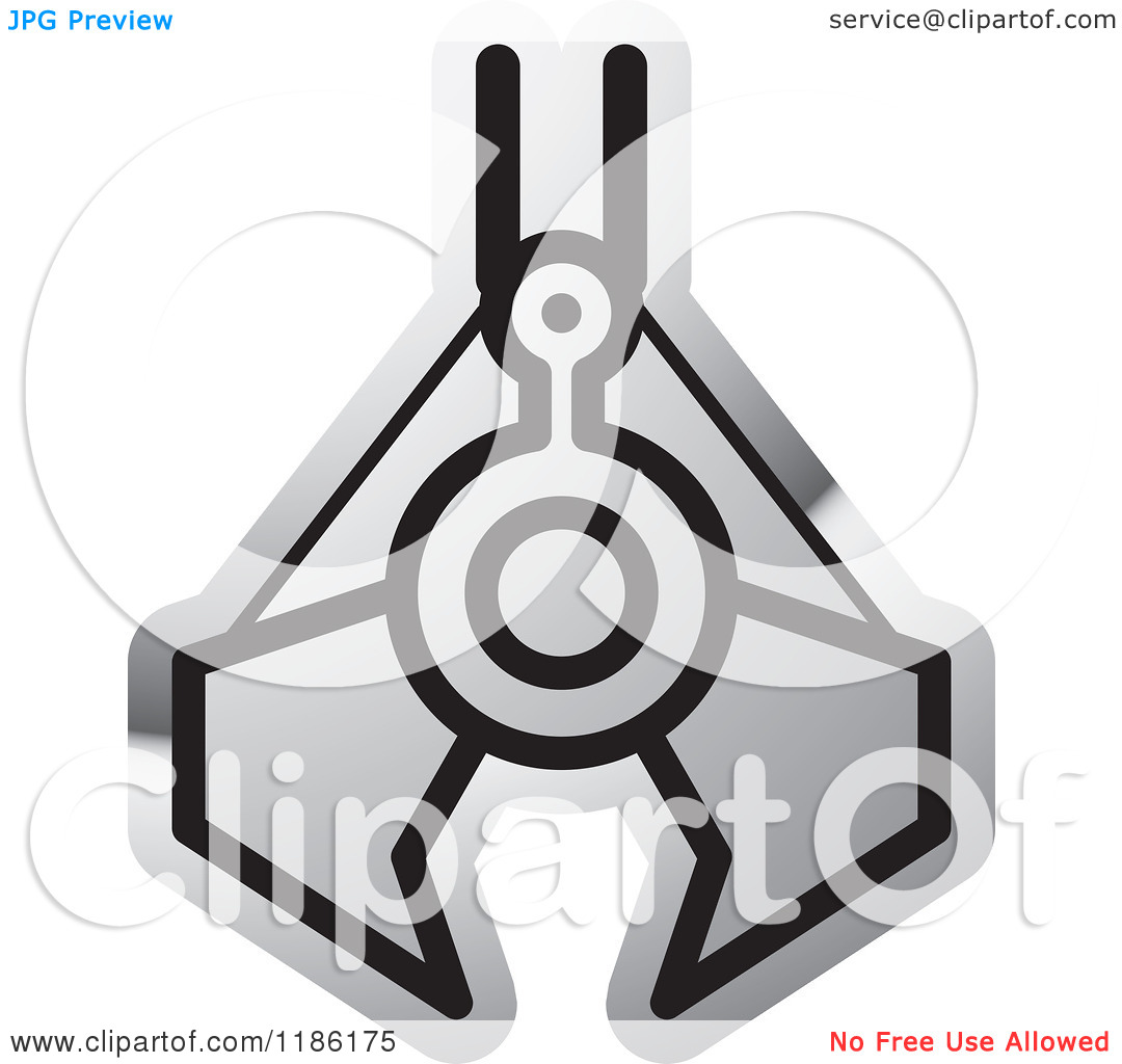 Clipart of a Silver Mining Clamp Icon.