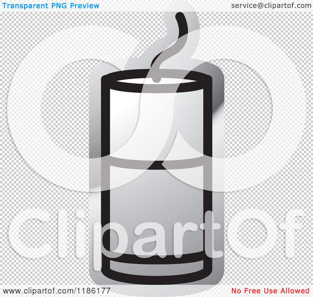 Clipart of a Silver Mining Detonator Button Icon.