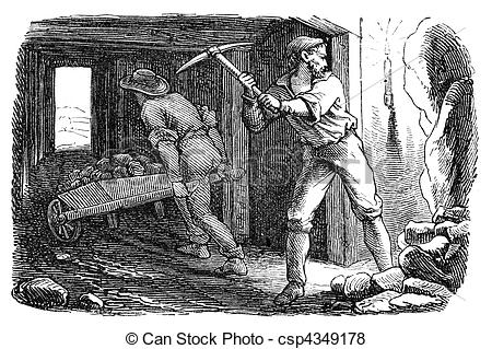 Silver Mining Clipart.
