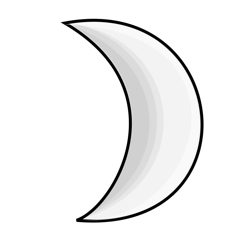 Free Clipart: Weather Symbols: Moon (silver).