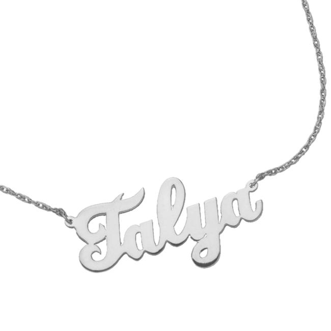 Serafina Cursive Nameplate Necklace.